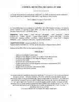 Conseil municipal du 08 Juillet 2020